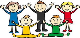 Olympic children Royalty Free Stock Image