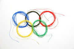 olympic cirkel Arkivbilder
