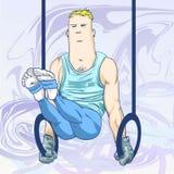 olympic cirkeltoons royaltyfri illustrationer
