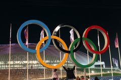 olympic cirklar Royaltyfria Foton