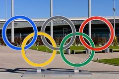 olympic cirklar Arkivfoto