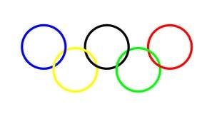 olympic cirklar Arkivbild