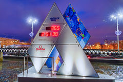 Olympic clock Stock Images