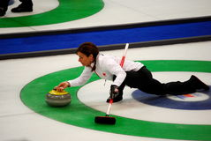 Olympic Curling 2010. Canadian Women's Curling at the Vancouver 2010 Winter Olympic Games, Canada versus China royalty free stock photo