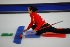 Olympic Curling 2010. Canadian Women's Curling at the Vancouver 2010 Winter Olympic Games, Canada versus China royalty free stock images