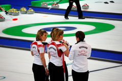 Olympic Curling 2010. Canadian Womens Curling at the Vancouver 2010 Winter Olympic Games, Canada versus China stock photography