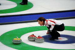 Olympic Curling 2010. Canadian Women's Curling at the Vancouver 2010 Winter Olympic Games, Canada versus China royalty free stock photos