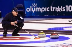 Olympic Curling Trials Stock Photos
