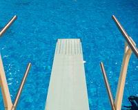Olympic Diving Pool Seen From Trampoline Royalty Free Stock Photography