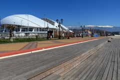Olympic embankment and the Fisht stadium in Adler, Russia Royalty Free Stock Photography