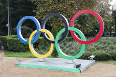 Olympic emblem Stock Photo