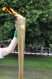 olympic fackla Royaltyfri Fotografi