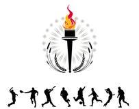 olympic fackla Arkivbild