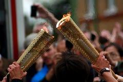 olympic fackla royaltyfria foton