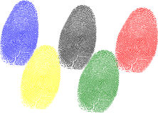 Olympic fingerprint Royalty Free Stock Photo