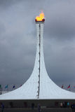 Olympic fire in Olympic park of Sochi Stock Image