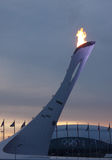 Olympic fire in Sochi Royalty Free Stock Photo