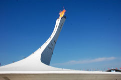 Olympic fire at XXII Winter Olympic Games Sochi 2014 Stock Photos
