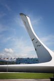 Olympic fire at XXII Winter Olympic Games Royalty Free Stock Photography