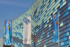 Olympic flags in Sochi Royalty Free Stock Image