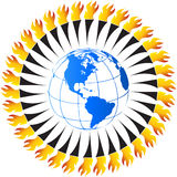 Olympic flame Royalty Free Stock Images