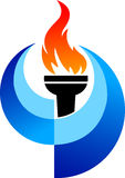 Olympic flame Stock Image