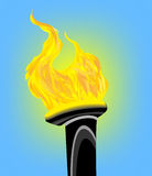 Olympic flame. Illustration of olympic fire torch Royalty Free Stock Image