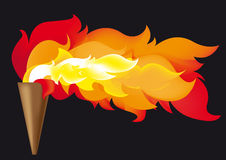 Olympic flame. Abstract vector illustration of the Olympic flame Royalty Free Stock Photo