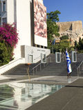 Olympic flame at Acropolis Museum Stock Photography