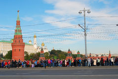 Olympic flame arrival to Moscow Royalty Free Stock Photos