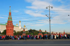 Olympic flame arrival to Moscow Stock Photography