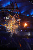The Olympic flame burns in the Maracana Olympic stadium during the opening ceremony of Rio 2016 Summer Olympic Games Stock Photography