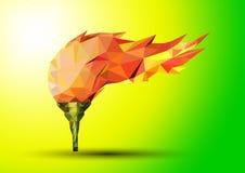 Olympic flame Fire. Polygonal geometric Royalty Free Stock Photo