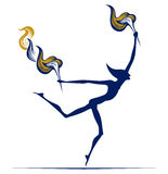 Olympic flame man Royalty Free Stock Photos