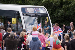 Olympic Flame reaches Basingstoke Stock Image
