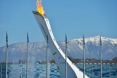 Olympic Flame in Sochi Stock Photography