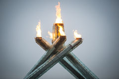 Olympic flame in Vancouver Stock Images