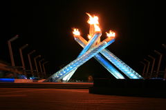 Olympic flames. Vancouver winter olympic 2010 flames Royalty Free Stock Image