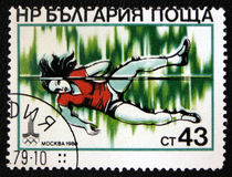 Olympic game 1980 in Moscow. Shows Pole Vaulting. Circa 1980 Royalty Free Stock Photography