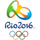 Olympic Game Rio Official Logo Stock Image