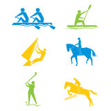 Olympic game set design Royalty Free Stock Photo