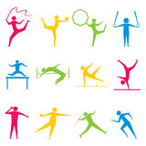 Olympic game set design. Olympic different game icon set design vector Stock Photo