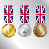 Olympic games 2012 London. Medal set  on a white background Royalty Free Stock Photo