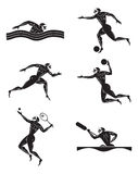Olympic games. Figure shows the images on the theme of the Olympic Games Stock Photography