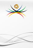 Olympic games gold medal abstract background. Sport games gold medal with ribbon elements background. Vector file layered for easy manipulation and customisation Royalty Free Stock Photography