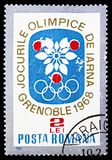 Olympic Games Grenoble, Winter Olympic games 1968 - Grenoble serie, circa 1967 royalty free stock photo