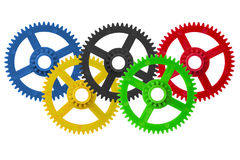 Olympic games logo cogwheels Stock Photo