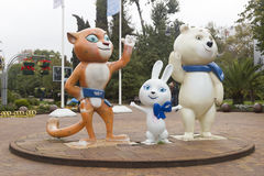 Olympic Games 2014 mascots Stock Images