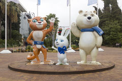 Olympic Games 2014 mascots Stock Image