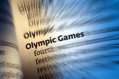 Olympic Games. A modern sports festival held traditionally every four years in different venues worldwide. Athletes representing many countries compete for Stock Images